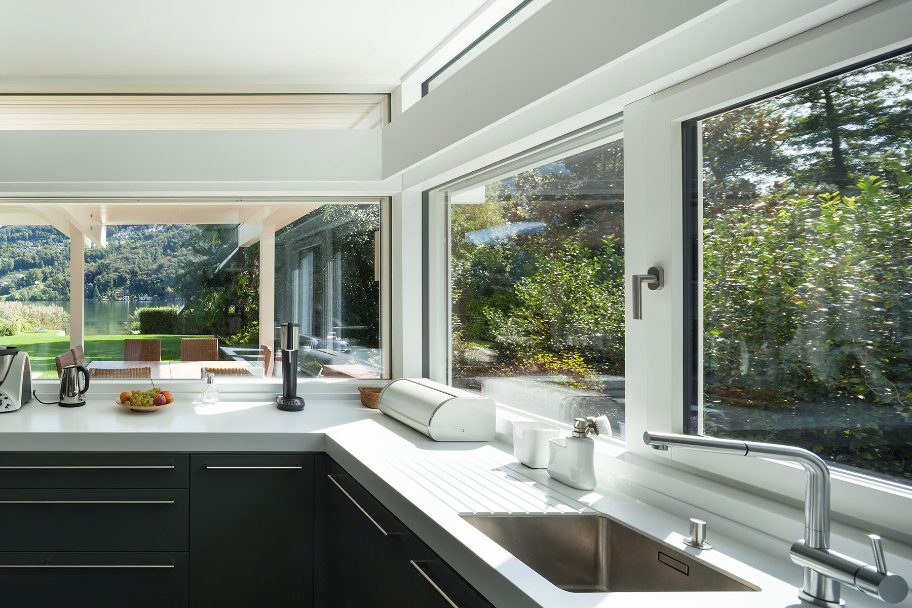 interior house, view of a modern kitchen
